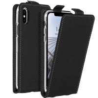 Accezz Flipcase iPhone X / Xs - Zwart / Black