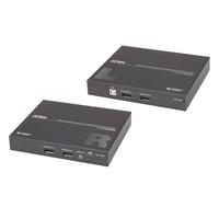 ATEN Système d'extension KVM USB DisplayPort double vue HDBaseT™ 2.0 (4K à 100 m pour vue unique) - Noir