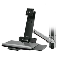 Ergotron StyleView Sit-Stand Combo System Support d'écran - Aluminium