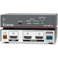 Extron HDMI DA2 HD 4K (Two Output HDMI DA) Video-lijnaccessoires - Zwart