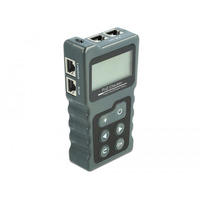 DeLOCK LCD Cable Tester RJ45 / PoE / DC Cable network tester - Grijs