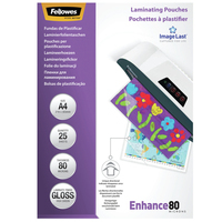 Fellowes ImageLast 80 micron glanzend A4-25pk Lamineerhoes - Transparant