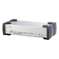 ATEN 4-Poorts DVI/audiosplitser Videosplitter - Zwart, zilver