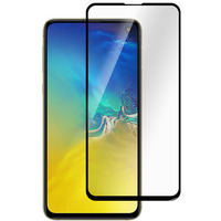 ESTUFF Titan Shield® Full Cover Screen Protector for Samsung Galaxy S10e Schermbeschermer - Zwart,Transparant