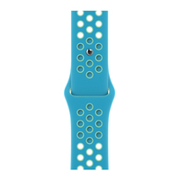 Apple Bracelet Sport Nike Bleu chlorine/Vert aurore 40 mm - Regular - Bleu,Vert