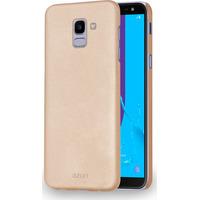 Azuri Metallic cover met soft touch coating - goud - Samsung J6 (2018)