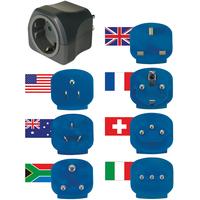 Brennenstuhl World travel plugs earthed 16 A Fiche secteur / adaptateur - Noir
