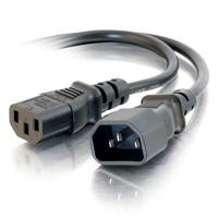 C2G Cordon d'extension d'alimentation pour ordinateur AWG 16 250 volts (IEC320 C13- IEC320 C14) de 1,2M Cordon .....
