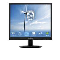 Philips Brilliance LCD-monitor met LED-achtergrondverlichting 19'' TFT monitor - Zwart