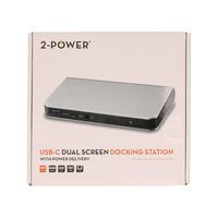 2-Power DOC0105A Docks & port replicator - Zilver