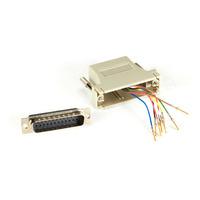 Black Box Adaptateur modulaire DB25 à RJ-45 (kit non monté) Adaptateur de câble - Gris