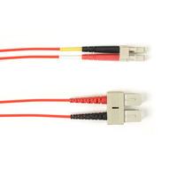 Black Box Câble de raccordement OM1 multimode coloré - LSZH Duplex Câble de fibre optique - Orange