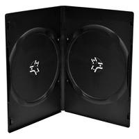 MediaRange DVD Slimcase for 2 discs, 9mm, black, Pack 10 - Noir
