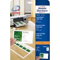 Avery Zweckform Business Cards 85 x 54 Quick & Clean 10 Sheets Carte de visite