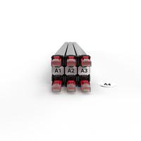 PATCHBOX Identifikationsetiketten 60 Stück Patch panel accessoire - Wit