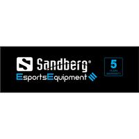 Sandberg Header for Alu Slatwall Esport - Zwart,Blauw,Wit