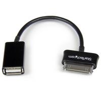 StarTech.com USB OTG Adapter Kabel voor Samsung Galaxy Tab Mobiele telefoonkabel - Zwart