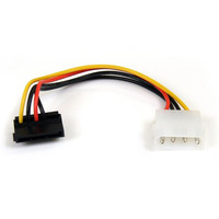 StarTech.com 6in 4 Pin LP4 to Right Angle SATA Power Cable Adapter - LP4 to SATA - 6in LP4 to SATA Cable - .....