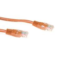 ACT Bruine 1 meter U/UTP CAT5E patchkabel met RJ45 connectoren Netwerkkabel