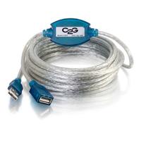 C2G 5m USB 2.0 A Male -> A Female Active Extension Cable Câble USB - Beige