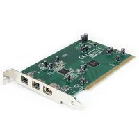StarTech.com Carte adaptateur 3 ports PCI 1394b FireWire avec kit d'édition vidéo numérique Adaptateur .....
