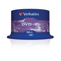 Verbatim DVD+R Matt Silver, 50pcs (her)schrijfbare DVD