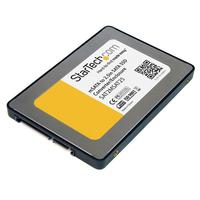 StarTech.com 2,5 inch SATA naar Mini SATA SSD Adapter Behuizing Interfaceadapter - Zilver