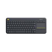 Logitech Wireless Touch Keyboard K400 Plus HTPC-voor tv's met pc-aansluiting - AZERTY Toetsenbord - Zwart