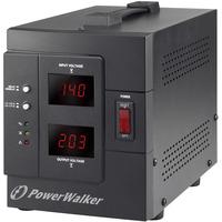 PowerWalker AVR 1500 SIV FR Régulateur de tension - Noir
