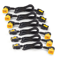 APC Power Cord Kit (6 ea), Locking, C19 to C20 (90 Degree), 1.2m Cordon d'alimentation - Noir,Jaune