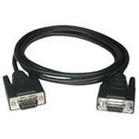 C2G 15m DB9 M/F Cable Seriële kabel - Zwart