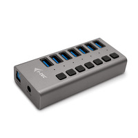 I-tec USB 3.0 Charging HUB 7port + Power Adapter 36 W Chargeur - Gris