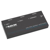 Black Box DVI-D Splitter with Audio and HDCP Videosplitter - Zwart