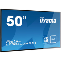 "Iiyama PROLITE LE5040UHS-B1 - 50"" Professional Digital Signage display with a 18/7 operating time and a 4K UHD ....."