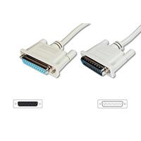Digitus Datatransfer extension cable, D-Sub25/M - D-Sub25/F Parallel-kabel - Beige