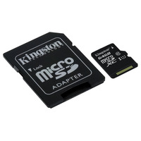 Kingston Technology microSDXC Class 10 UHS-I Card 64GB Flashgeheugen - Zwart