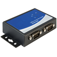 DeLOCK Adapter USB 2.0 to 2 x serial RS-422/485 Seriële coverters/repeaters/isolatoren - Zwart