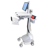 Ergotron StyleView EMR Cart with LCD Pivot, SLA Powered Chariots et supports multimédias - Aluminium,Gris,Blanc