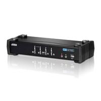 Aten Commutateur KVMP™ DVI/audio USB 4 ports Commutateur KVM - Noir