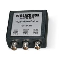 Black Box RGB Video Balun, CAT5, 500ft Max Rallonges AV - Noir