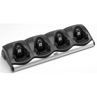 Zebra 4 Slot Cradle, Black Chargeur de batterie - Noir