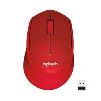 Logitech M330 Silent Plus Souris - Rouge