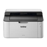 Brother HL-1110 - 20 ppm, 2400 x 600 dpi, 200 MHz, 1MB, USB 2.0, GDI, 380W, 51dB, 4.5 Kg Laserprinter - Zwart, .....