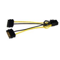 StarTech.com Câble adaptateur d'alimentation SATA vers carte vidéo PCI Express 8broches de 15cm - .....