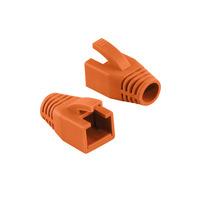 LogiLink Strain relief boot 8.0 mm, orange, 50 pcs. Kabelbeschermer - Oranje