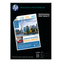 HP Laser Matte Photo Paper Canevas mat professionnel -100 feuilles/A4/210 x 297 mm Papier - Noir,Bleu,Blanc