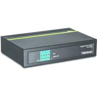Trendnet 4 x Gigabit PoE/PoE+, 1 x Gigabit, 96 KB Buffer Switch - Zwart