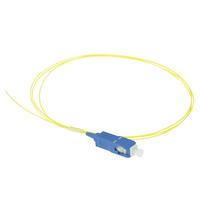 ACT SC 9/125µm OS2 pigtail Fiber optic kabel - Geel