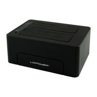 LC-Power LC-DOCK-C HDD/SSD docking stations - Zwart