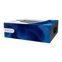 MediaRange Media storage case for 500 discs, aluminum look, with hanging sleeves, silver - Argent
